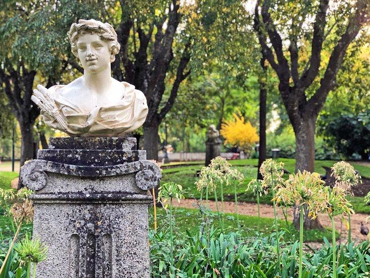 Statue in the Public Gardens of Evora