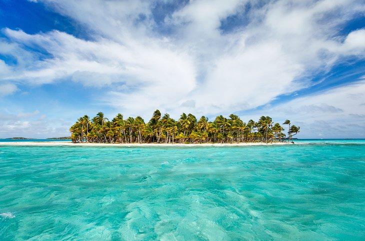 Île tropicale dans les Exumas, Bahamas