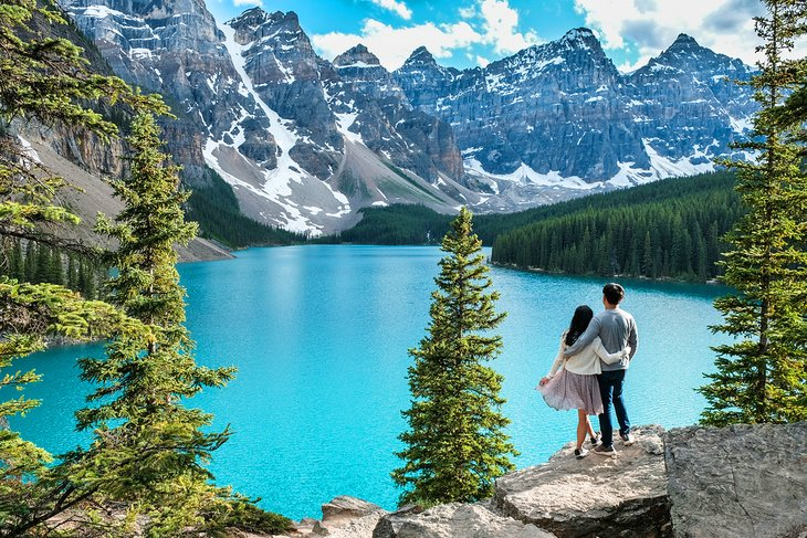Couple at Moraine Lake, Banff National Park