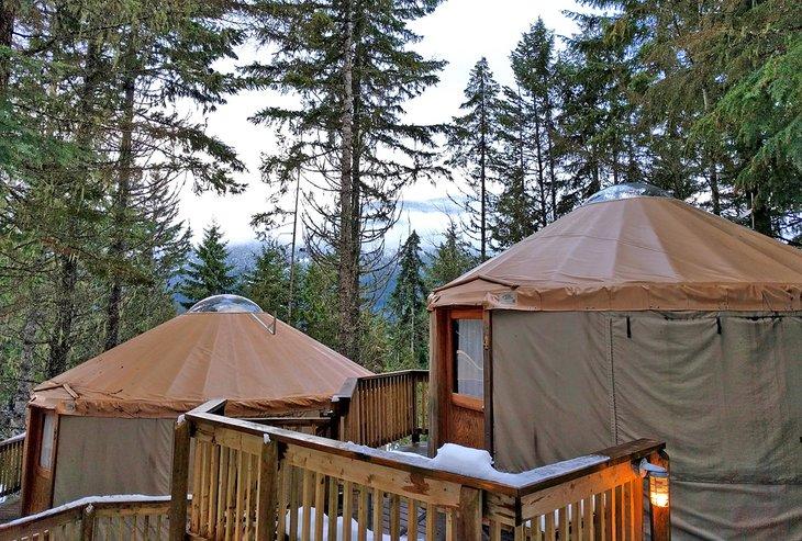 Yurtas en el Riverside RV Resort and Campground
