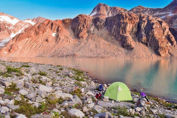 Camping en el lago Wedgemount