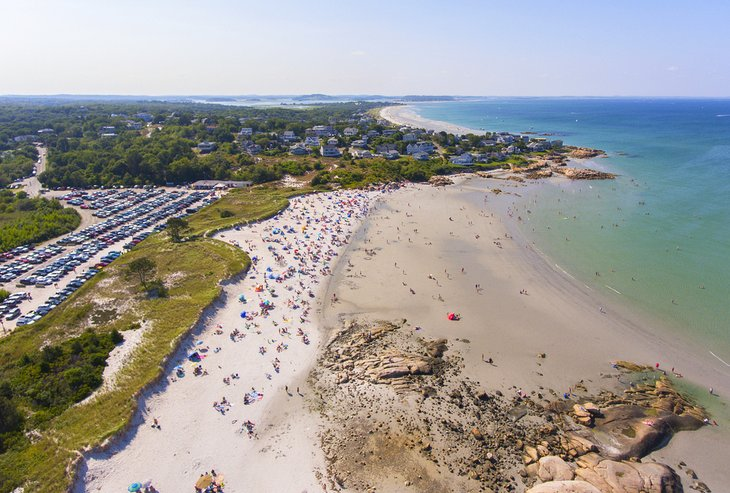 Vista aérea de la playa de Wingaersheek