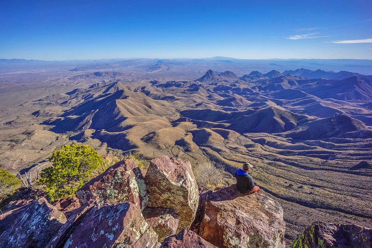 View over Big Bend National Park