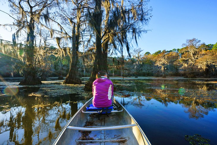 Canoeing at Caddo Lake State Park