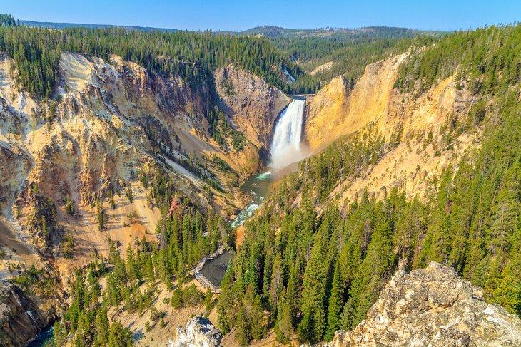 Lower Falls en el Gran Cañón de Yellowstone
