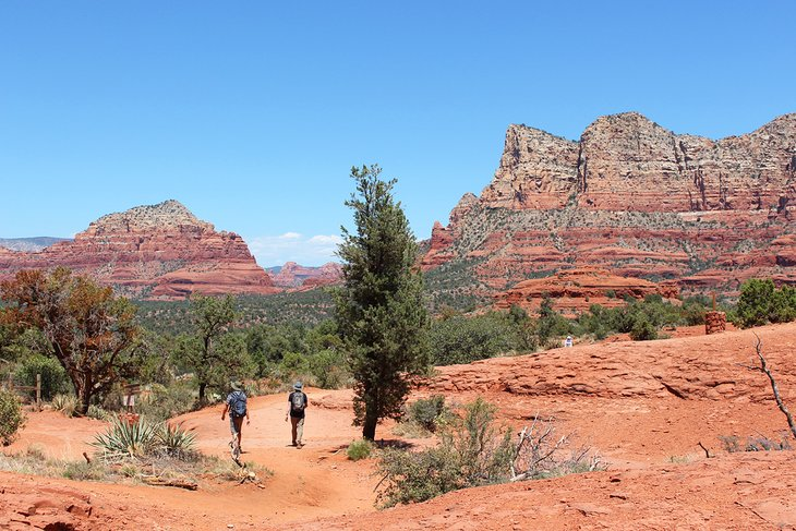 A stop along the Red Rock Scenic Byway