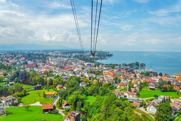 View of Bregenz from a Pfänderbahn Cable Car