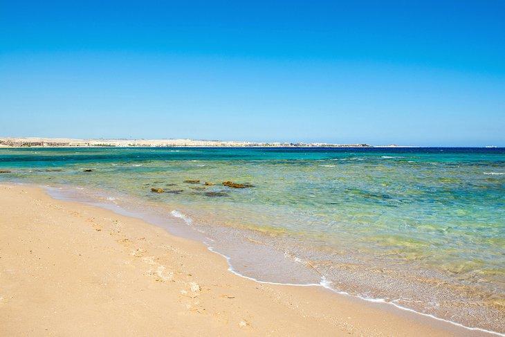 Hermosa playa en Sahl Hasheesh