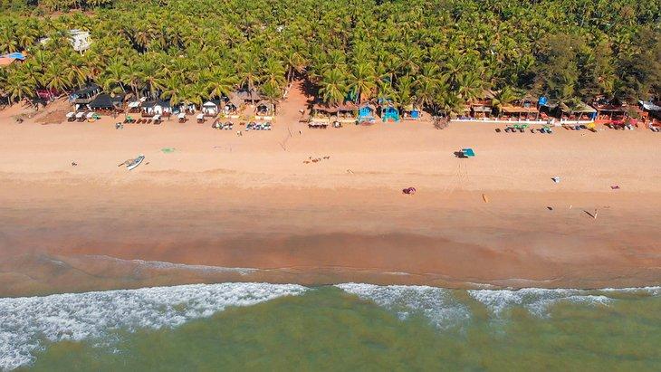Vista aérea de la playa de Agonda