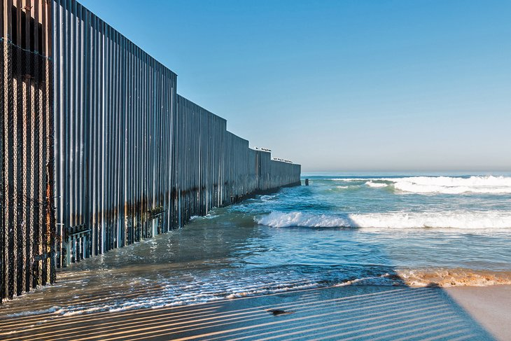The border wall at Playas de Tijuana
