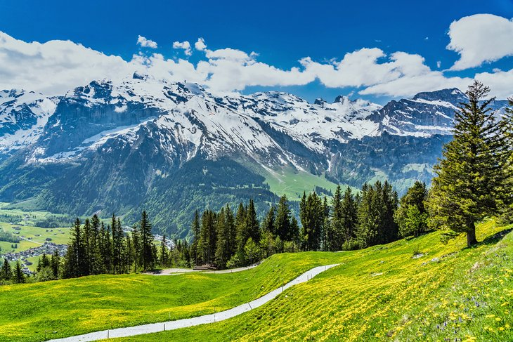 Engelberg valley and Mount Titlis