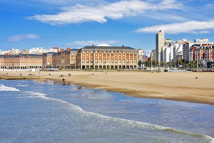 A Mar del Plata beach