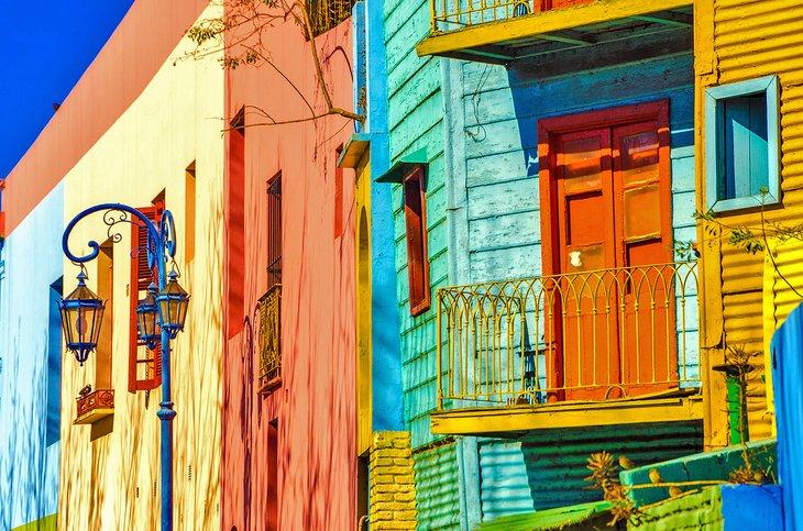 Bright colors of Caminito in La Boca, Buenos Aires