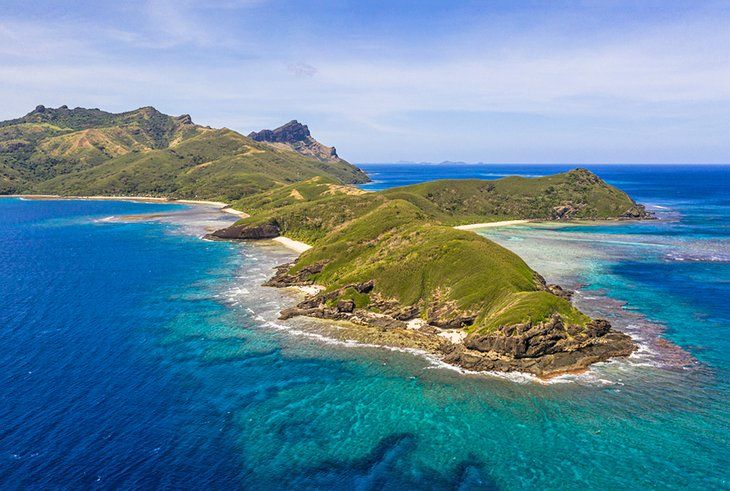 Aerial view of the Yasawa Islands