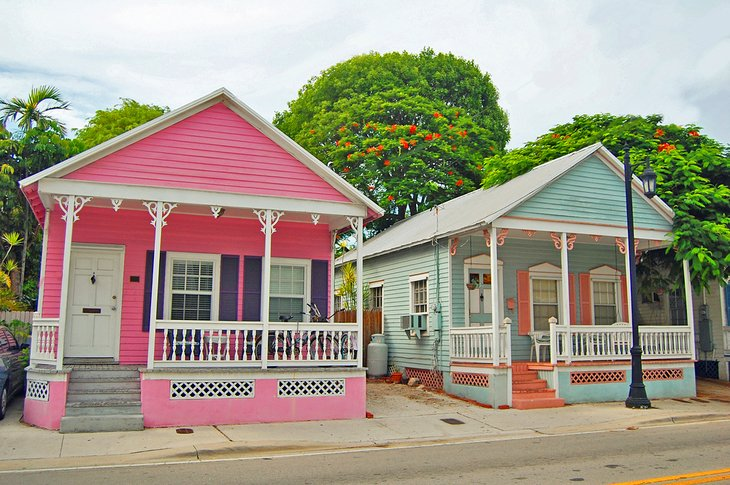 Conch-style architecture in Key West