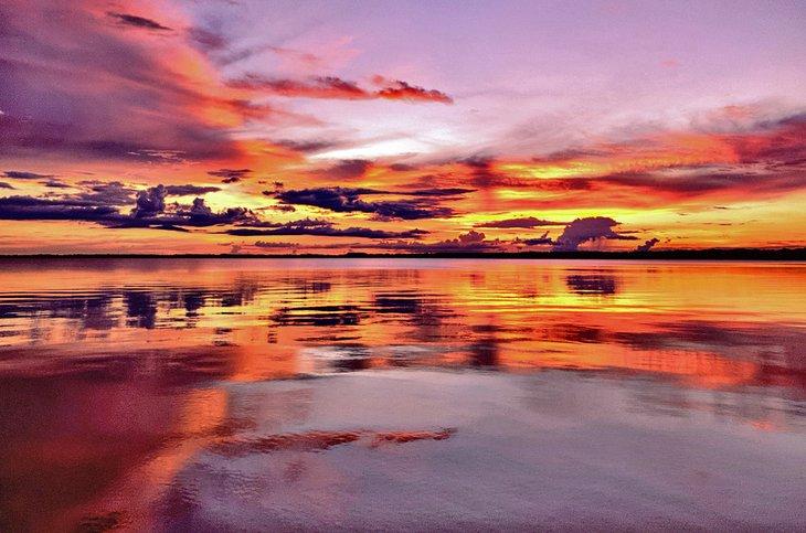 Puesta de sol sobre el lago Eustis