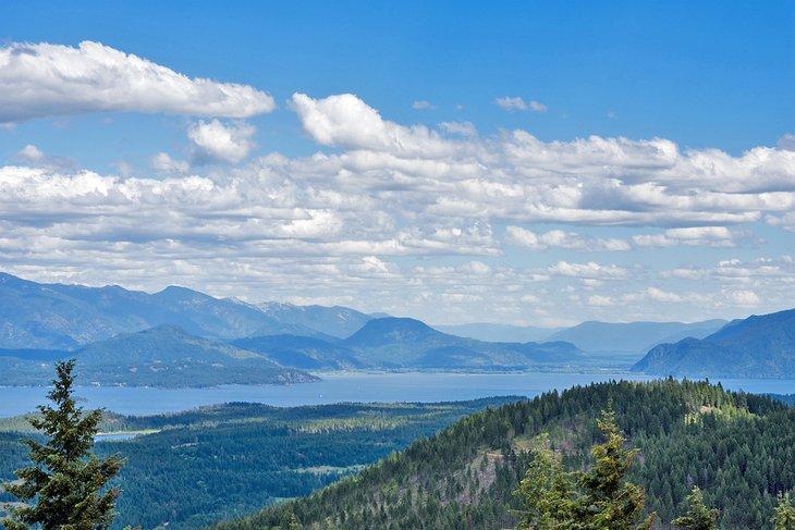 Lago Pend Oreille, visto desde Idaho Centennial Trail