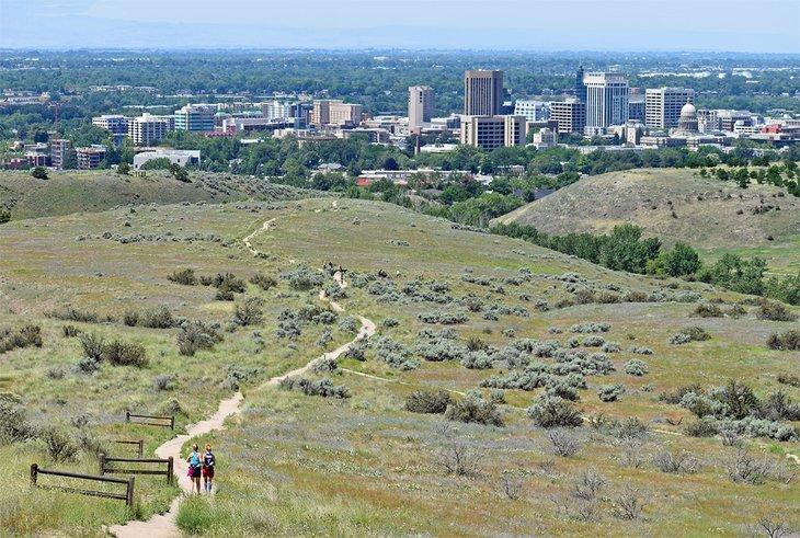 Horizonte de Boise desde Central Ridge Trail