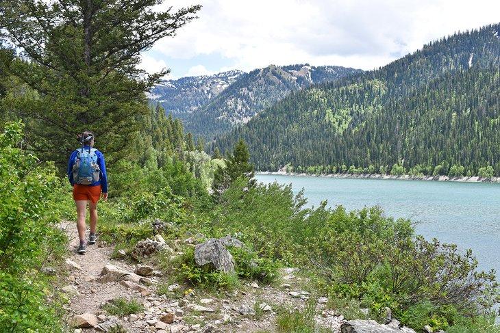 Lago Upper Palisades, Sendero Palisades Creek