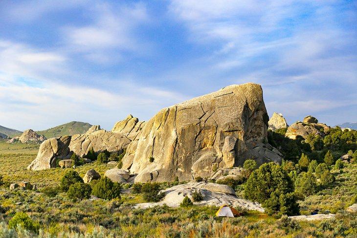 Camping en City of Rocks
