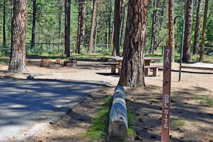 Double site at Grayback Campground