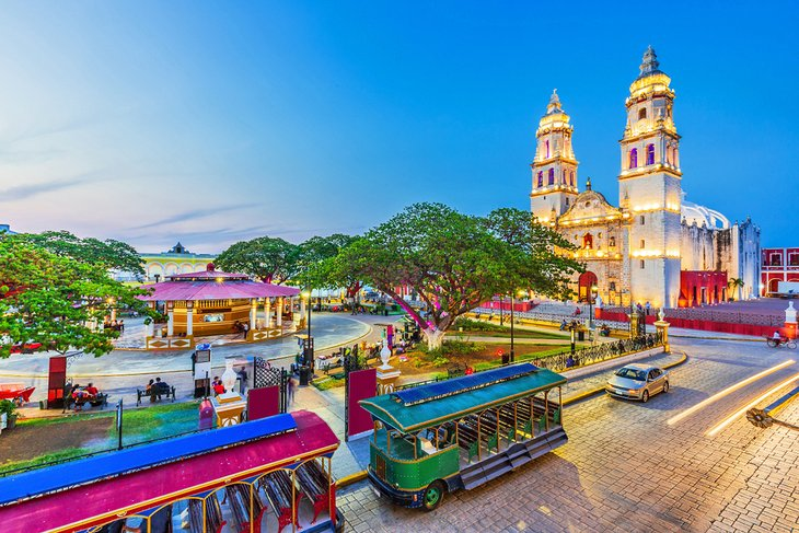 Independence Plaza in Campeche
