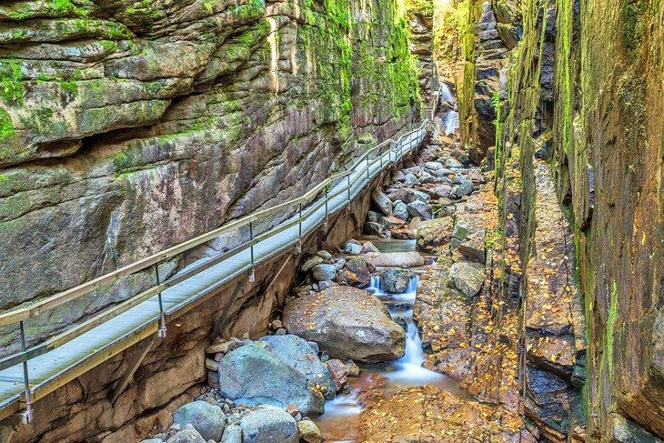 The Flume Gorge, Parque Estatal Franconia Notch