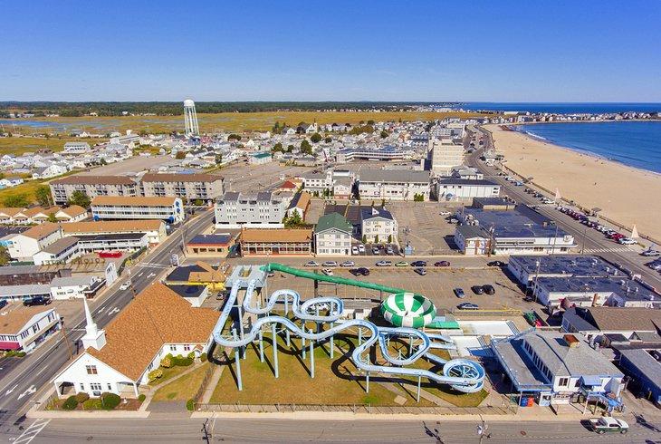 Vista aérea de la playa de Hampton
