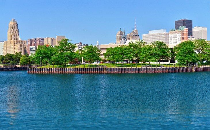 Lago Erie y el centro de Buffalo