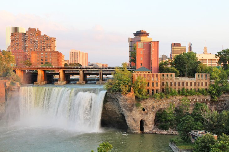 High Falls and downtown Rochester