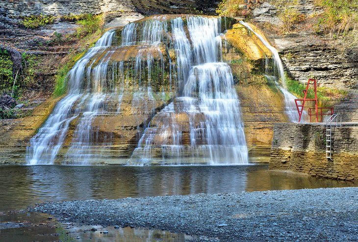 Lower Falls at Robert H. Treman State Park near Ithaca