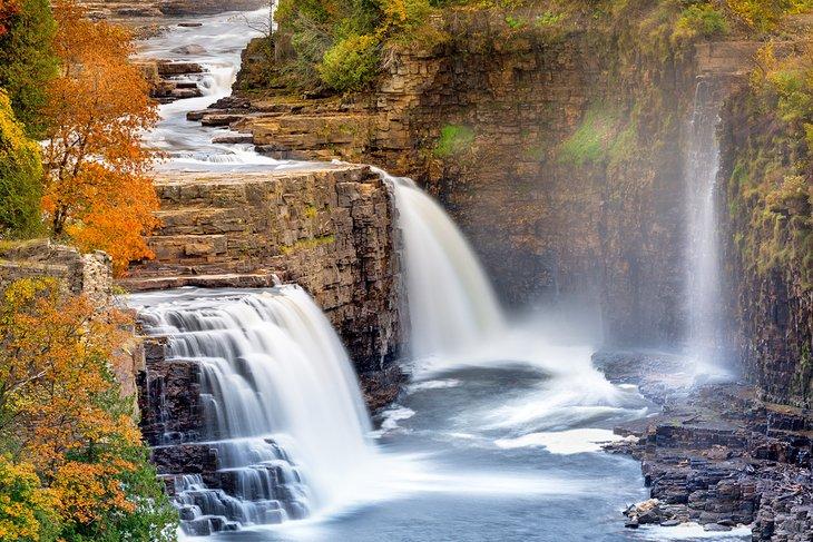 Rainbow Falls, Abismo Ausable