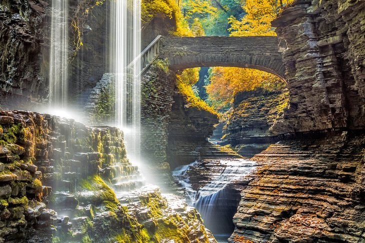 Rainbow Falls, Parque Estatal Watkins Glen
