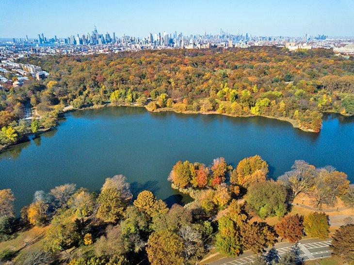 Foto aérea de Prospect Park en Brooklyn
