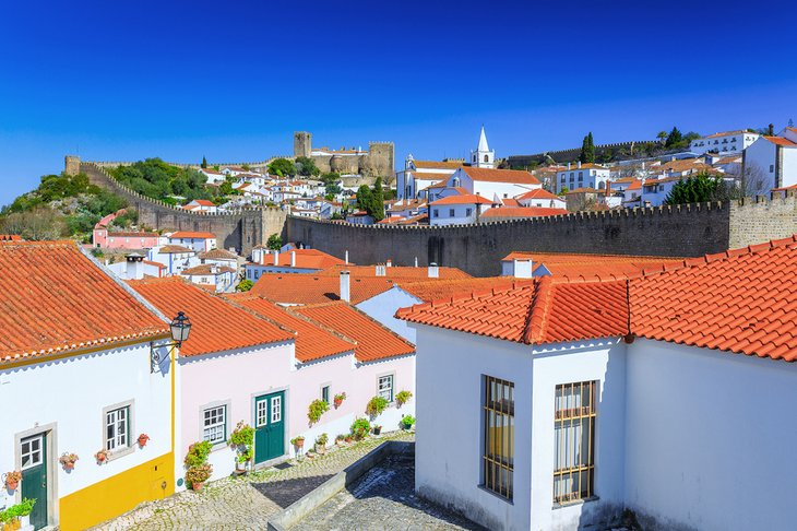 The walled town of Obidos