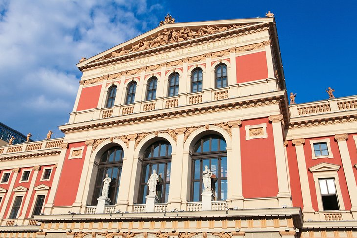 The Vienna Musikverein, site of the Vienna Philharmonic Orchestra's New Year's Concert