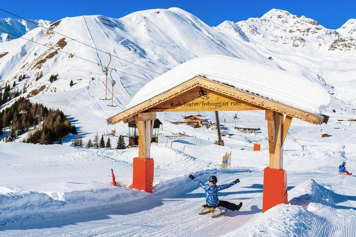 Toboggan run in the Austrian Alps