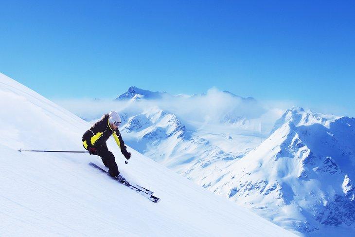 Skier in Solden, Austria