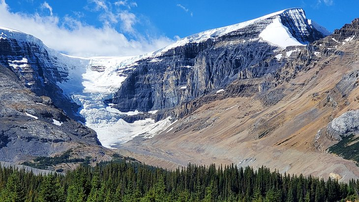 View of glacier from Icefield Tent Campground