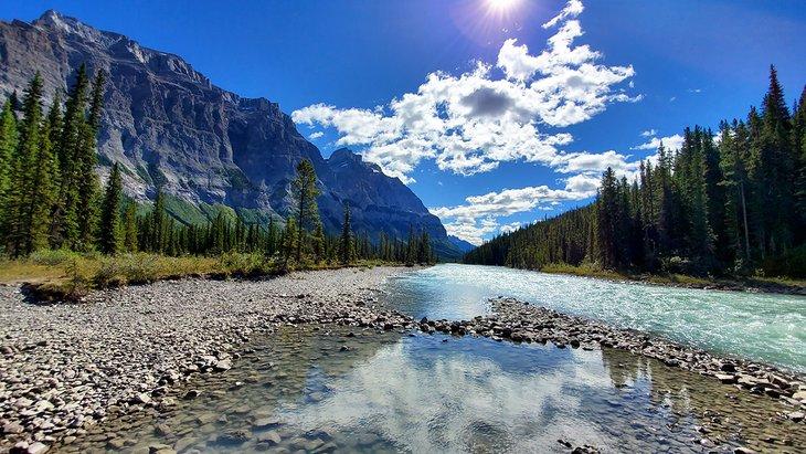 Rampart Creek en Rampart Creek Campground