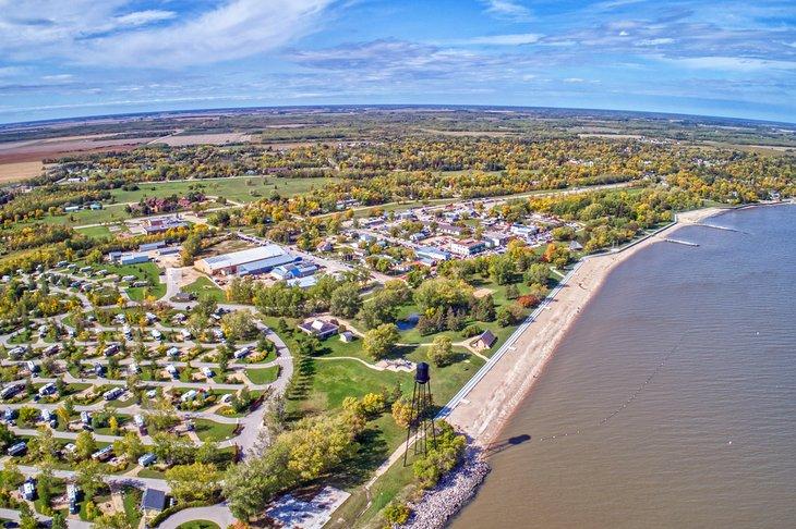 Vista aérea de la playa de Winnipeg