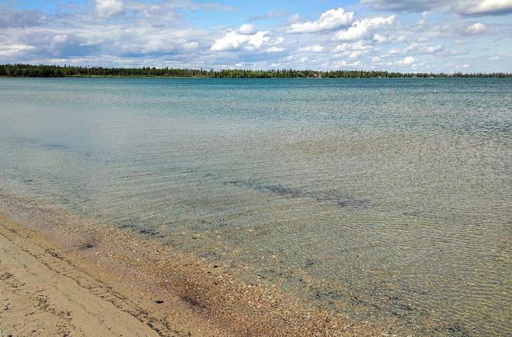 Sunset Beach en Clearwater Lake Provincial Park