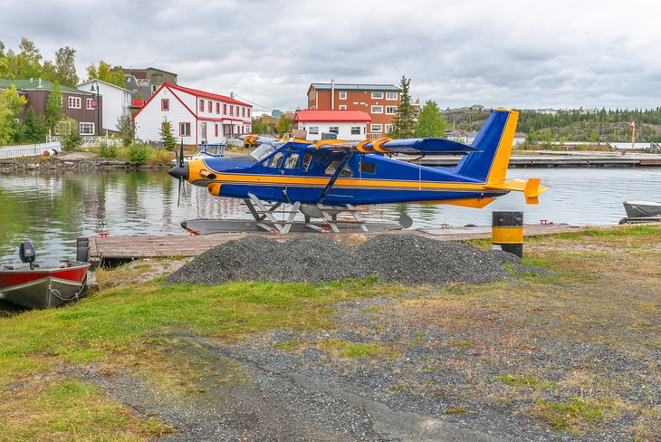 Floatplane at Yellowknife on Great Slave Lake