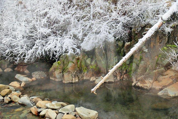 Frenchman ?? s Bend Hot Springs en invierno