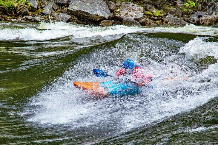 Kayak en el río Lochsa