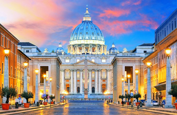 Ciudad del Vaticano al atardecer