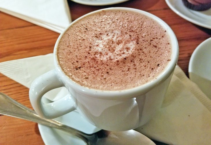 Cup of hot chocolate at L.A. Burdick Chocolates