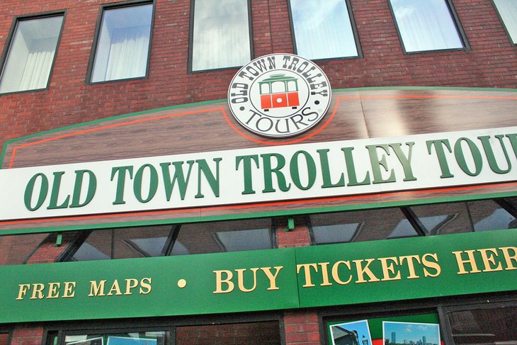Old Town Trolley sign