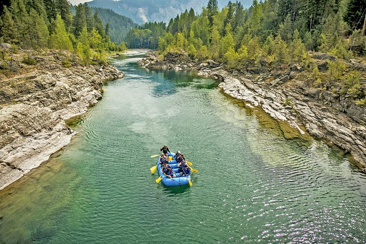 Rafting on the Middle Fork of the Flathead River in Glacier National Park