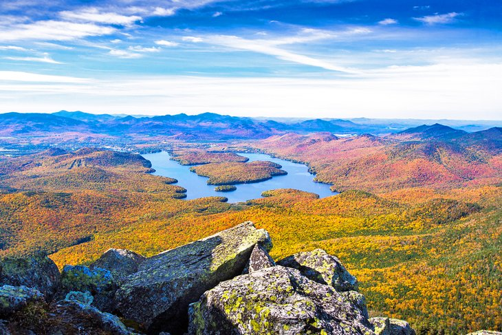 View of Lake Placid from the summit of Whiteface Mountain